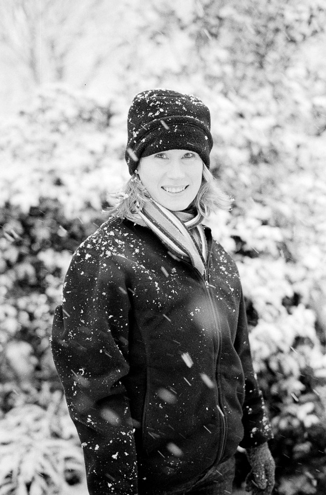 A 2013 snowfall made for perfect portraits of my bride.